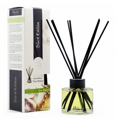 Mikado Black Edition Reed Diffuser 125 ml  White Flower