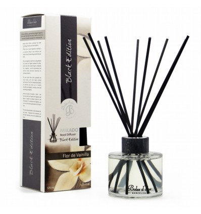 Mikado Black Edition Reed Diffuser 125 ml Vanilla Flower